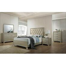 ACME Carine Queen Bed - 26240Q - PU & Champagne