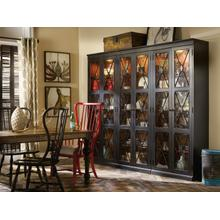 See Details - Sanctuary Two-Door Thin Display Cabinet - Ebony