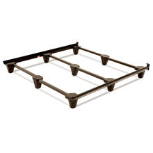 View Product - Presto Universal Sized Folding Bed Frame with Headboard Brackets, Mahogany