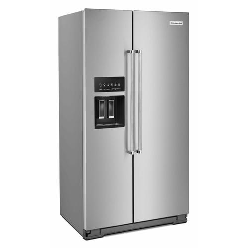 Gallery - 19.9 cu ft. Counter-Depth Side-by-Side Refrigerator with Exterior Ice and Water and PrintShield™ finish - Stainless Steel with PrintShield™ Finish
