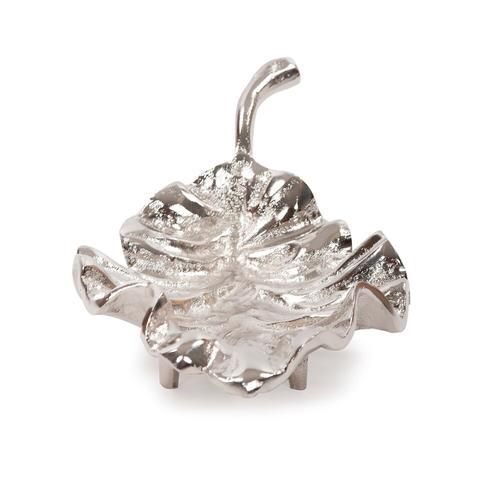 Howard Elliott - Calathea Leaf Polished Silver Sculpture, Small