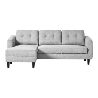 Belagio Sofa Bed With Chaise Light Grey Left