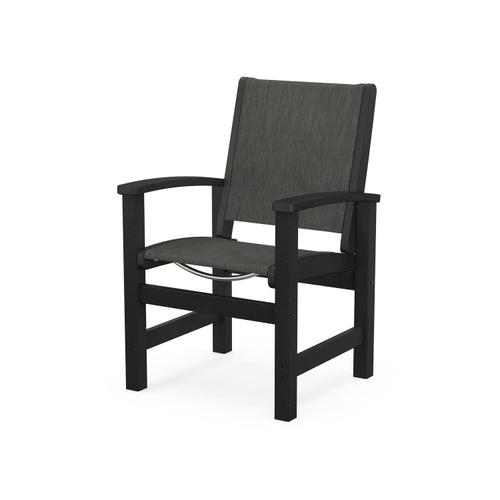 Product Image - Coastal Dining Chair in Black / Ember Sling