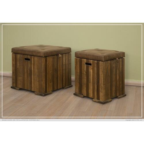 Trunk Chair Side Table w/ Cushion Top