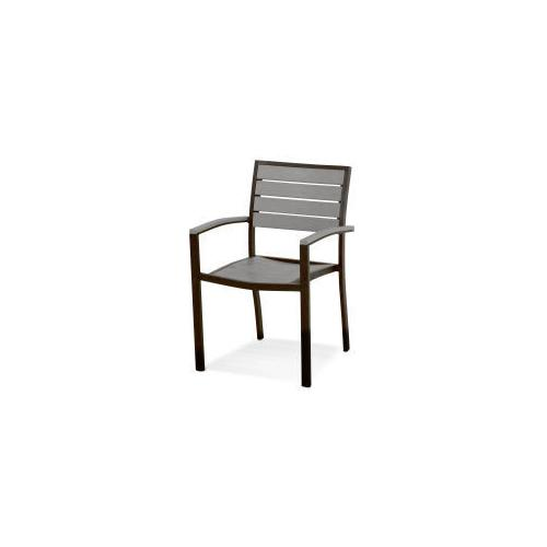 Polywood Furnishings - Eurou2122 Dining Arm Chair in Textured Bronze / Slate Grey
