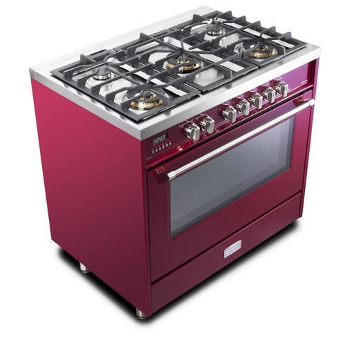 "Burgundy 36"" Dual Fuel - Designer Series"