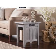 See Details - Nantucket Chair Side Table with Charger Driftwood Grey