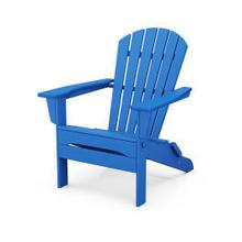 View Product - South Beach Folding Adirondack Chair in Pacific Blue