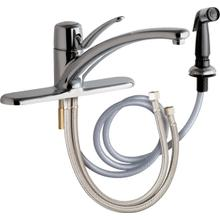 """Deck-mounted manual sink faucet, single-hole mounting with optional 8"""" cover plate"""