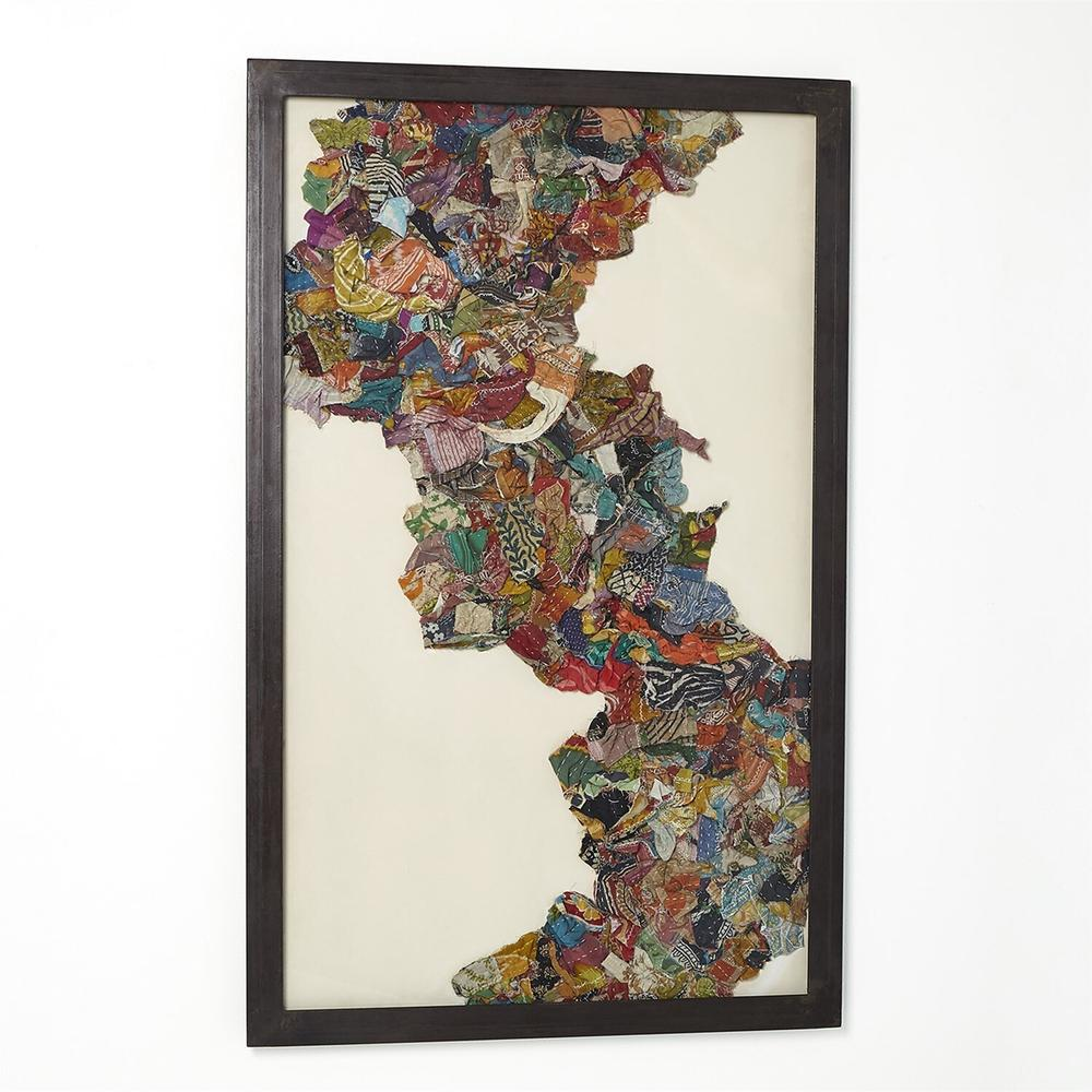 See Details - Kantha S Abstract Design w/Metal Frame