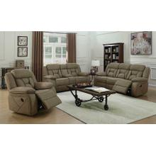 See Details - Houston Casual Tan Motion Loveseat