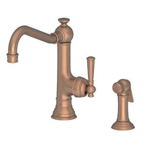 Antique Copper Single Handle Kitchen Faucet with Side Spray