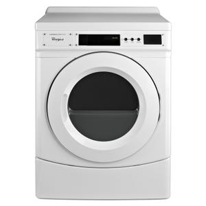 "Whirlpool27"" Commercial Gas Front-Load Dryer, Non-Vend White"