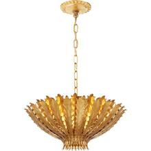 AERIN Hampton 3 Light 20 inch Gild Chandelier Ceiling Light, Medium