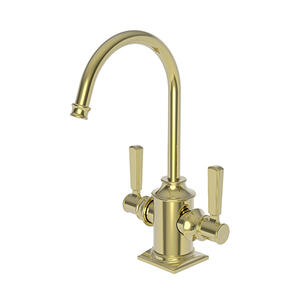 Uncoated Polished Brass - Living Hot & Cold Water Dispenser