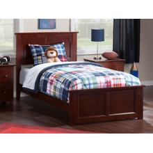 Madison Twin XL Bed with Matching Foot Board in Walnut