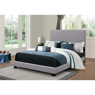 Boyd Upholstered Grey Queen Bed