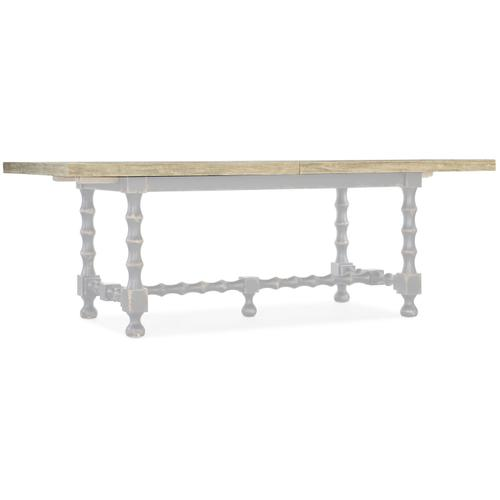 Dining Room Ciao Bella 84in Trestle Table w/ 2-18in Leaves-Flaky White/Gray