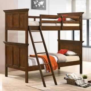 San Mateo Youth Twin over Twin Bunk Bed  Tuscan