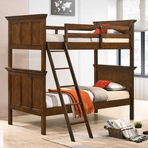 San Mateo Youth Twin over Twin Bunk Bed  Tuscan