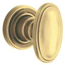 Satin Brass and Brown 5057 Estate Knob