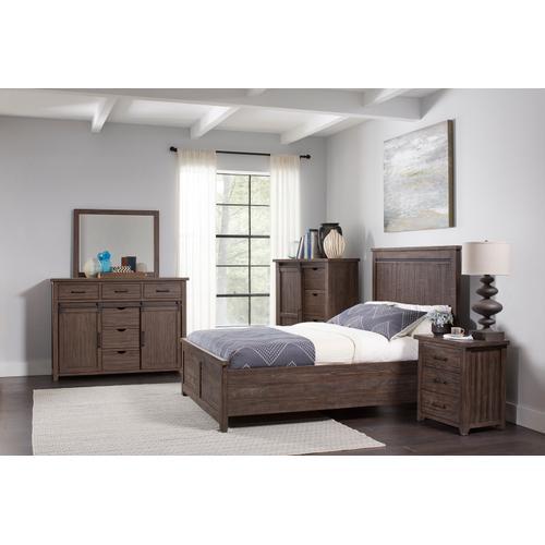 Jofran - Madison County 4pc Queen Panel Bedroom: Bed, Dresser, Mirror, Nightstand