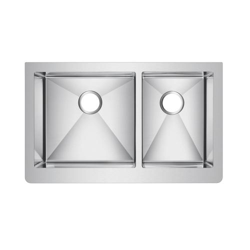 """Crowley Double Bowl Stainless Farmer Sink - 33"""""""