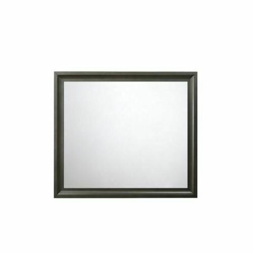 ACME Soteris Mirror - 26544 - Antique Gray
