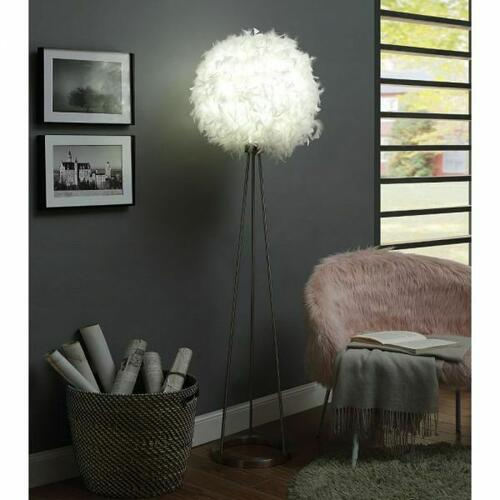 ACME Theodosia Floor Lamp - 40147 - Sandy Nickel