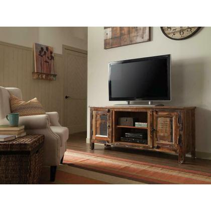 See Details - Reclaimed Wood TV Stand