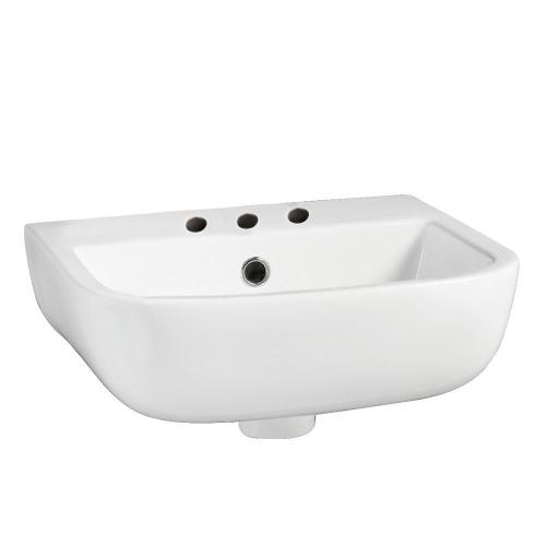 """Series 600 Large Wall-Hung Basin - 8"""" Widespread"""