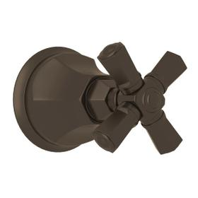 Palladian Trim for Volume Controls and Diverters - Tuscan Brass with Cross Handle