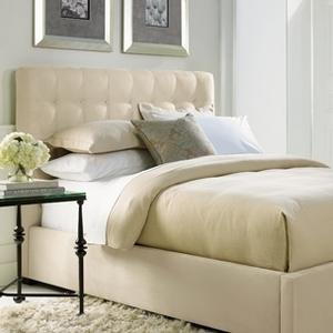 """King-Sized Avery Button-Tufted Bed (54-1/2"""" H) in Espresso"""