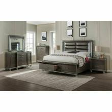 ACME Sadie Queen Bed - 27940Q - PU & Dark Champagne