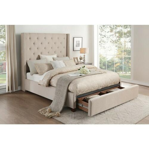 Gallery - California King Platform Bed with Storage Footboard