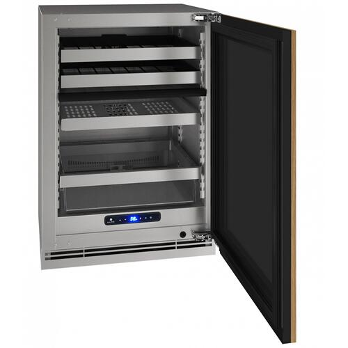 "Hbd524 24"" Dual-zone Beverage Center With Integrated Solid Finish and Field Reversible Door Swing (115 V/60 Hz Volts /60 Hz Hz)"