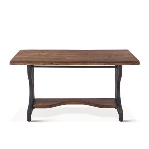 """Organic Forge Office Desk 54"""" Raw Walnut"""