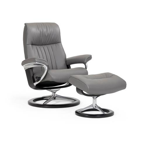 Stressless By Ekornes - Stressless Crown Small Signature Base Chair and Ottoman