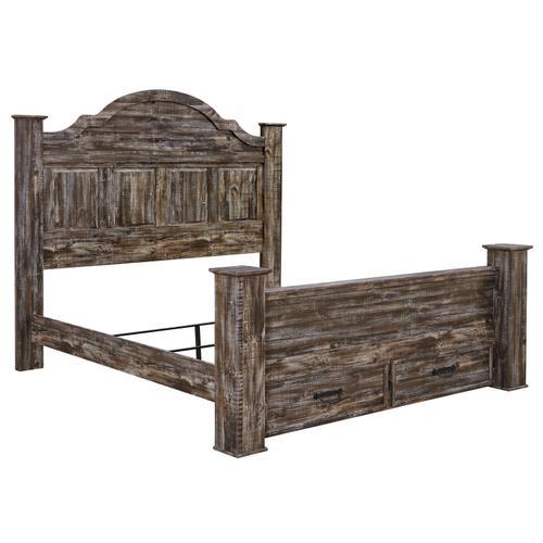 Ashley Furniture - Lynnton - Rustic Brown 5 Piece Bed (King)