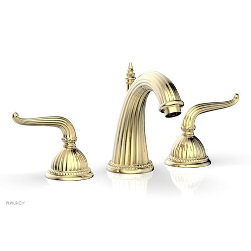 GEORGIAN & BARCELONA Widespread Faucet High Spout K360 - Polished Brass Uncoated