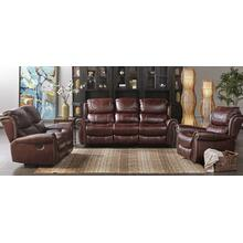 Stanley Mahogany Leather Gel Sofa and Loveseat Set