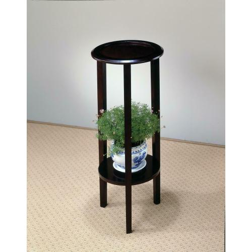 Product Image - Transitional Round Espresso Plant Stand