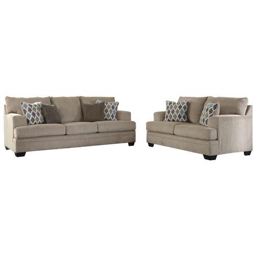 Ashley Furniture - Dorsten Sofa & Loveseat Sisal