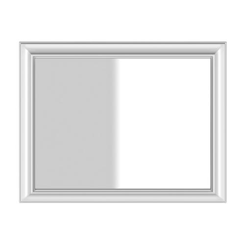 """Wall-mounted mirror in Structural White frame 35-7/16"""" x 43-5/16"""""""