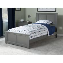 Madison Twin Bed with Matching Foot Board in Atlantic Grey
