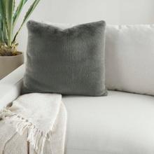 """Faux Fur Ap100 Charcoal 20"""" X 20"""" Throw Pillow"""