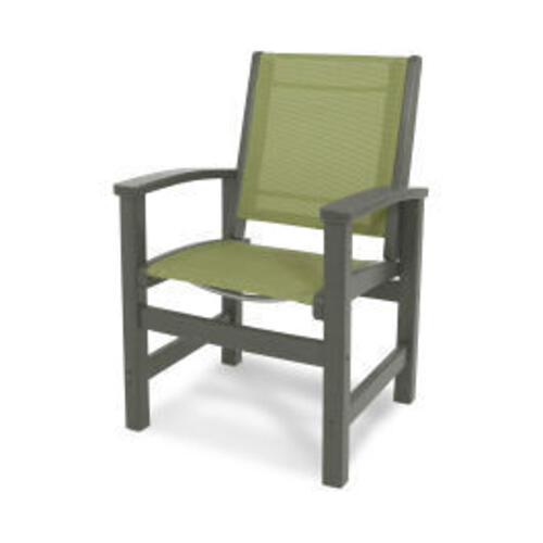 Polywood Furnishings - Coastal Dining Chair in Slate Grey / Kiwi Sling