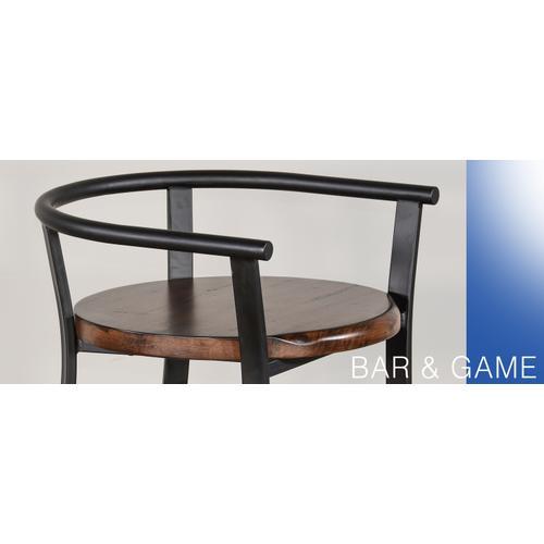 "Sunny Designs - 24""H Barstool, Wood Seat"