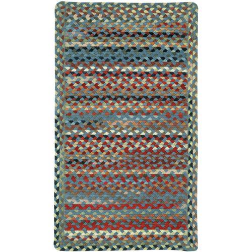 Plymouth Colony Blue Braided Rugs (Custom)