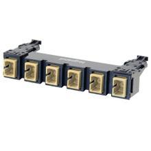 See Details - HDJ Series 6 SC to SC Simplex Fiber Adapter Panel, 6-Fiber OM1 - Beige